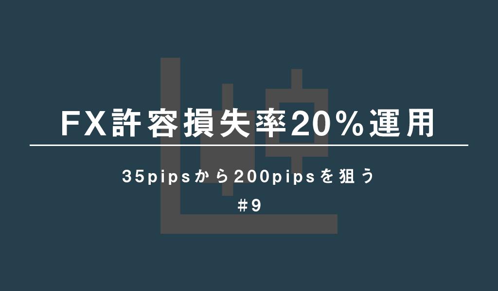 【FX許容損失率20%運用】35pipsから200pipsを狙う #9 つかさFX研究所   自己心理・資金管理・取引手法をFXブログで徹底解説